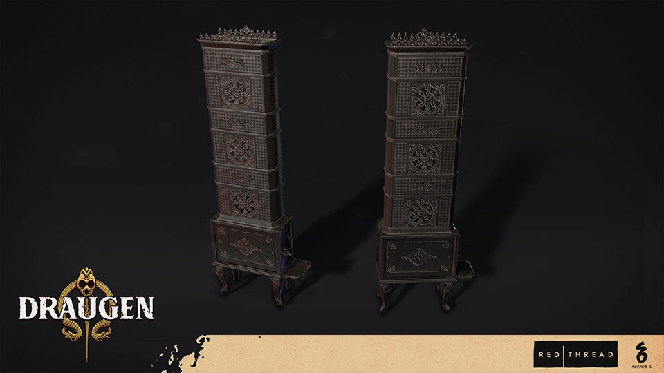 Draugen by Red Thread Games - Cast Iron Stove