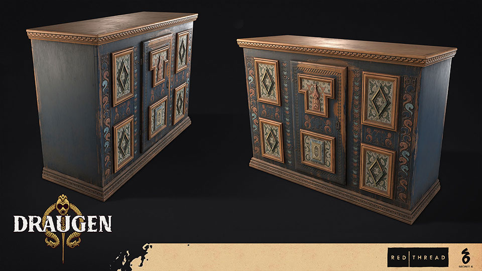Draugen by Red Thread Games - Front Cabinet