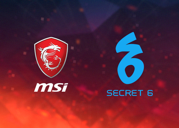 MSI and Secret 6 Partnership for PGF 2018