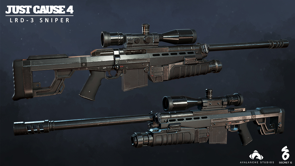 Just Caus e4 LRD-3 Sniper