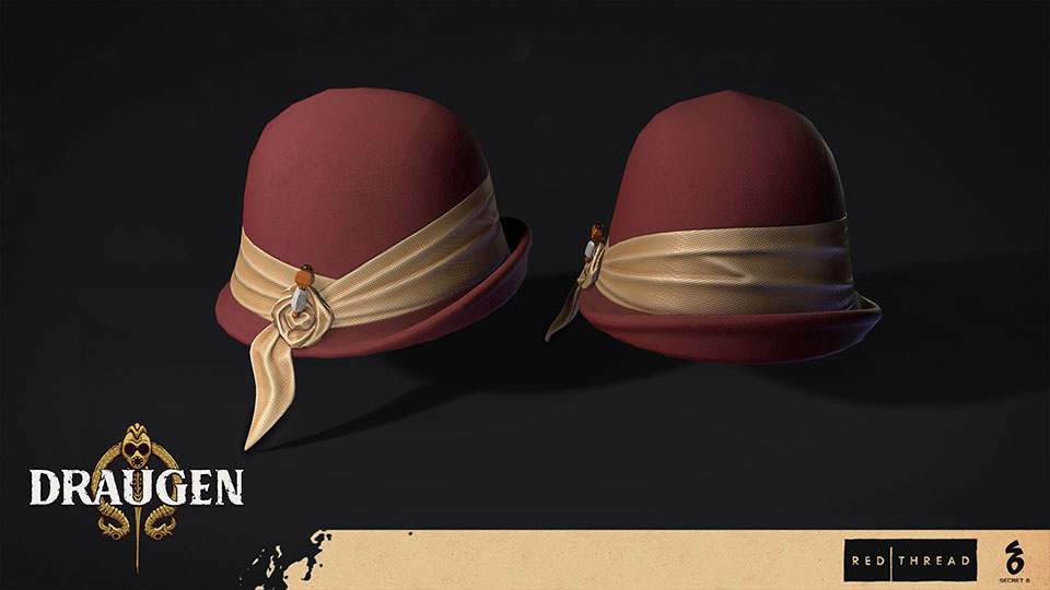 Draugen by Red Thread Games - Cloche Hat
