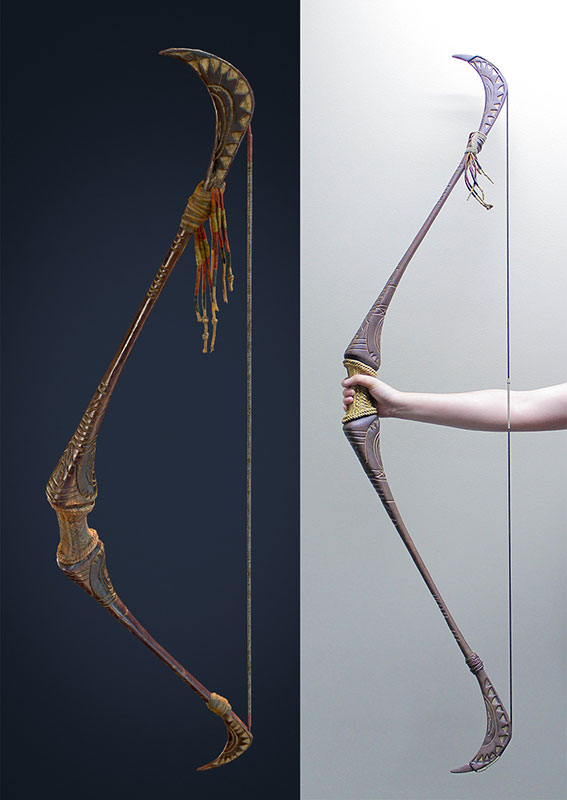 Lara Recurve Bow - side by side